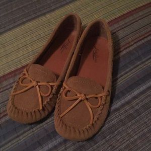 Taupe moccasins